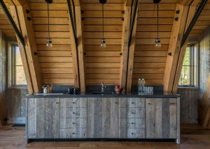 Rustic Modern Country Barn House Kitchen