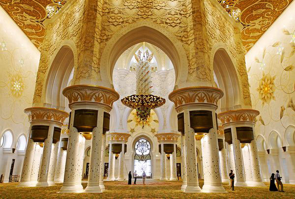 Sheikh Zayed Grand Mosque Abu Dhabi Idesignarch Interior Design Architecture Interior Decorating Emagazine