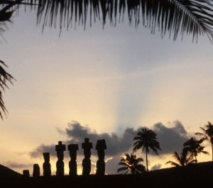 Moai-carved-stone-statues